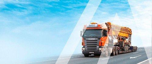 Transport company  International cargo transportation between the